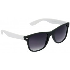 Black and White Plastic Frame Sunglasses + Free 3D Glasses - 2 pcs/Pack