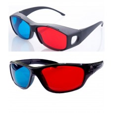 Hrinkar original New Model Anaglyph 3D Glasses Red and Cyan 1+1 offer ( 3D Glass )