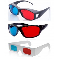 Hrinkar original New Model Anaglyph 3D Glasses Red and Cyan 1+2 offer ( 3D Glass )