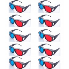 Hrinkar original New Model Anaglyph 3D Glasses Red and Cyan ( 3D Glass 10 Pcs Pack )