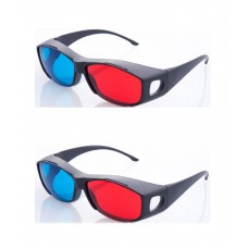 Hrinkar original New Model Anaglyph 3D Glasses Red and Cyan ( 3D Glass 2 Pcs Pack )