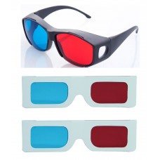 Hrinkar original New Model Anaglyph 3D Glasses Red and Cyan 1 Plastic +2 Paper offer ( 3D Glass )