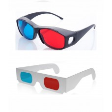 Hrinkar original New Model Anaglyph 3D Glasses Red and Cyan 1 Plastic +1 Paper offer ( 3D Glass )