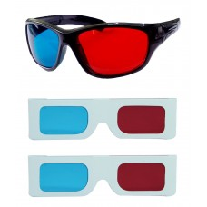 Hrinkar original Anaglyph 3D Glasses Red and Cyan 1 Plastic + 2 Paper offer ( 3D Glass )