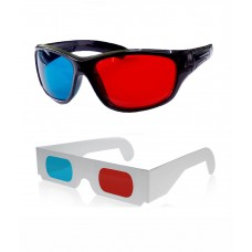 Hrinkar original Anaglyph 3D Glasses Red and Cyan 1 Plastic + 1 Paper offer ( 3D Glass )