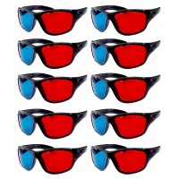 Hrinkar original Anaglyph 3D Glasses Red and Cyan ( 3D Glass 10 Pcs Pack )