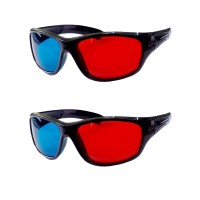 Hrinkar original Anaglyph 3D Glasses Red and Cyan ( 3D Glass 2 Pcs Pack )