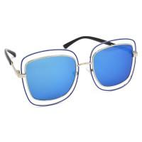 TARA JARMON TJ-BX329-SLVR-BLU_1 Over-sized Sunglasses (Blue)