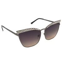 TARA JARMON TJ-BX330-GRY-GRY_1 Cat-eye Sunglasses (Grey, Multicolor)