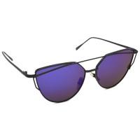 TARA JARMON TJ-BX328-BK-BLU_1 Cat-eye Sunglasses (Blue)