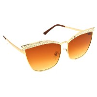 TARA JARMON TJ-BX330-GLD-BWN_1 Cat-eye Sunglasses (Brown)