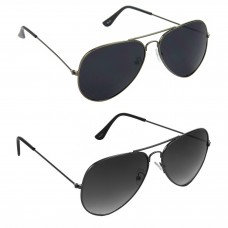 Metal Frame Black Lens Grey Frame Sunglasses, Metal Frame Grey Lens Grey Frame Sunglasses - LOW-HCMB065
