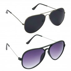 Metal Frame Black Lens Grey Frame Sunglasses, Metal Frame Grey Lens Black Frame Sunglasses - LOW-HCMB073