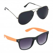 Metal Frame Black Lens Grey Frame Sunglasses, Plastic Frame Grey Lens Black Frame Sunglasses - LOW-HCMB084