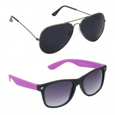 Metal Frame Black Lens Grey Frame Sunglasses, Plastic Frame Grey Lens Black Frame Sunglasses - LOW-HCMB085