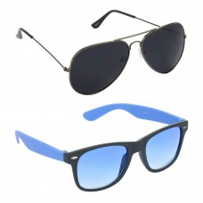 Metal Frame Black Lens Grey Frame Sunglasses, Plastic Frame Grey Lens Black Frame Sunglasses - LOW-HCMB086