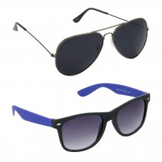 Metal Frame Black Lens Grey Frame Sunglasses, Plastic Frame Grey Lens Black Frame Sunglasses - LOW-HCMB087