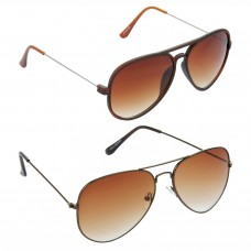 Aviator Brown Lens Brown Frame Sunglasses, Aviator Brown Lens Brown Frame Sunglasses Minor Scratch - LOW-HCMB301