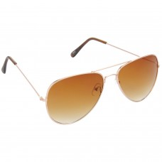 Trail Blazer Metal Frame Brown Lens & Golden Frame Sunglasses for Men and Women - HRS01