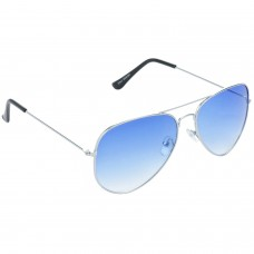Trail Blazer Metal Frame Blue Lens & Silver Frame Sunglasses for Men and Women - HRS02