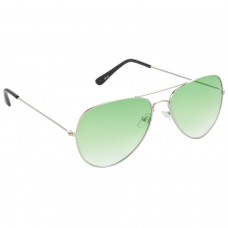 Trail Blazer Metal Frame Green Lens & Silver Frame Sunglasses for Men and Women - HRS07