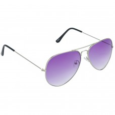 Trail Blazer Metal Frame Violet Lens & Silver Frame Sunglasses for Men and Women - HRS08