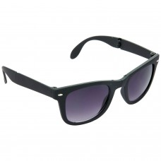 Stylish Plastic Frame Grey Lens & Black Frame Sunglasses for Men and Women - HRS10