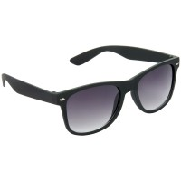 Stylish Plastic Frame Grey Lens & Black Frame Sunglasses for Men and Women - HRS11