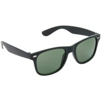 Stylish Wayfarer Green Lens & Black Frame Sunglasses for Men and Women Minor Scratch - HRS12