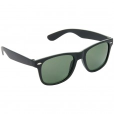 Stylish Plastic Frame Green Lens & Black Frame Sunglasses for Men and Women - HRS12