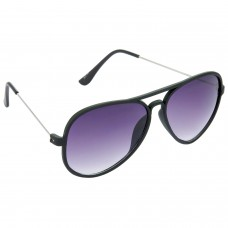 Trail Blazer Metal Frame Violet Lens & Black Frame Sunglasses for Men and Women - HRS14