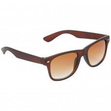 Stylish Plastic Frame Brown Lens & Brown Frame Sunglasses for Men and Women - HRS19