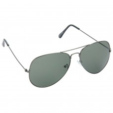 Trail Blazer Metal Frame Green Lens & Gray Frame Sunglasses for Men and Women - HRS20