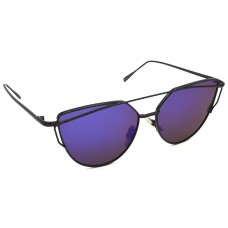 TARA JARMON TJ-BX328-BK-BLU_1 Cat-eye Sunglasses (Blue)