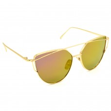 TARA JARMON TJ-BX328-GLD-GLD_1 Cat-eye Sunglasses (Golden)