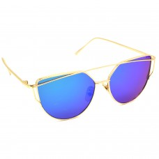 TARA JARMON TJ-BX328-GLD-LBLU_1 Cat-eye Sunglasses (Blue, Violet)