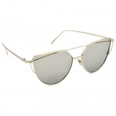 TARA JARMON TJ-BX328-SLVR-SLVR_1 Cat-eye Sunglasses (Silver)