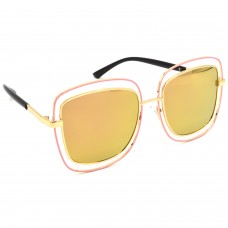 TARA JARMON TJ-BX329-GLD-GLD_1 Over-sized Sunglasses (Golden)