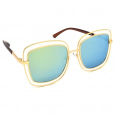 TARA JARMON TJ-BX329-GLD-LBLU_1 Over-sized Sunglasses (Blue, Golden)