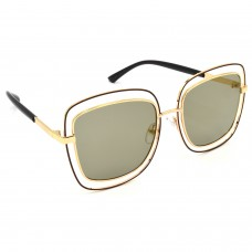 TARA JARMON TJ-BX329-GLD-LGLD_1 Over-sized Sunglasses (Golden, Grey)