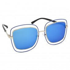 TARA JARMON TJ-BX329-SLVR-BLU_1 Over-sized Sunglasses (Blue)