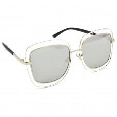 TARA JARMON TJ-BX329-SLVR-SLVR_1 Over-sized Sunglasses (Silver)