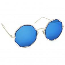 TARA JARMON TJ-BX331-SLVR-BLU_1 Round Sunglasses (Blue)