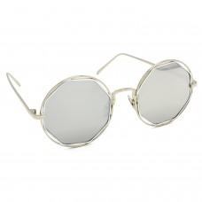 TARA JARMON TJ-BX331-SLVR-SLVR_1 Round Sunglasses (Silver)