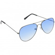 Trail Blazer Metal Frame Blue Lens & Gray Frame Sunglasses for Men and Women - HRS35