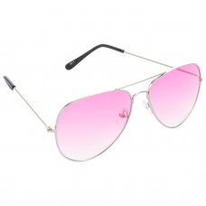 Trail Blazer Metal Frame Pink Lens & Silver Frame Sunglasses for Men and Women - HRS37