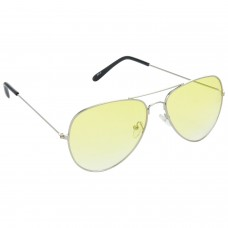 Trail Blazer Metal Frame Yellow Lens & Silver Frame Sunglasses for Men and Women - HRS38