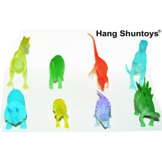 Hang Shuntoys Dinosaurs Glow in The Dark Animals Plastic Toys for Kids ( 6 Pcs. Pack )