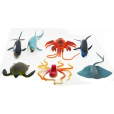 Hang Shuntoys Ocean Animals Plastic Toys For Kids (7 Pcs. Pack)