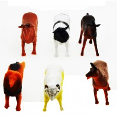 Hang Shuntoys Farm Animals Plastic Toys for Kids (6 Pcs. Pack)